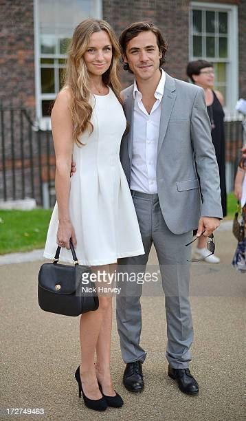 Jack Savoretti and Jemma Powell attends the launch party for the Fashion Rules exhibition a collection of dresses worn by HRH Queen Elizabeth II...
