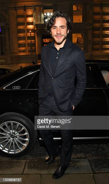 Jack Savoretti arrives in an Audi at the GQ Car Awards at Corinthia London on February 03 2020 in London England