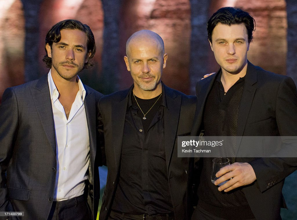 Jack Savoretti, designer Italo Zucchelli and actor Michael Pitt attend the dinner to celebrate Italo Zucchelli's ten years as Calvin Klein Collection's mens creative director on June 23, 2013 in Milan, Italy.