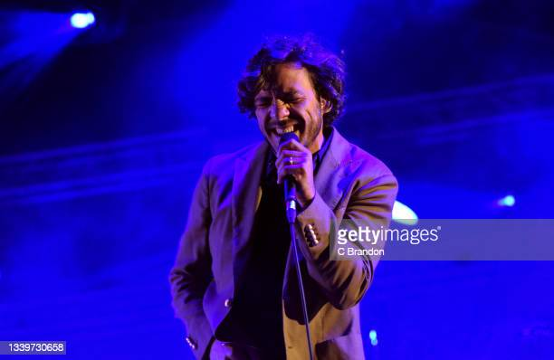 Jack Savoretti headlines on the Main Stage during Day 2 of the Cambridge Club Festival 2021 at Childerley Orchard on September 11, 2021 in Cambridge,...