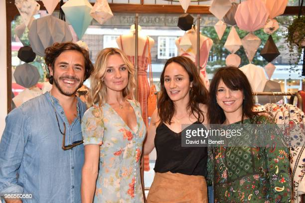 Jack Savoretti Jemma Powell Lydia Leonard and Imelda May attend a private view of 'Moments' by artist Jemma Powell hosted by Anthropologie King's...