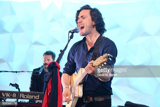 Jack Savoretti performs during day two of the Audi Polo Challenge at Coworth Park on May 29 2016 in London England