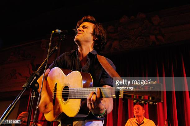 Jack Savoretti performs on stage at Bush Hall on June 19 2012 in London United Kingdom