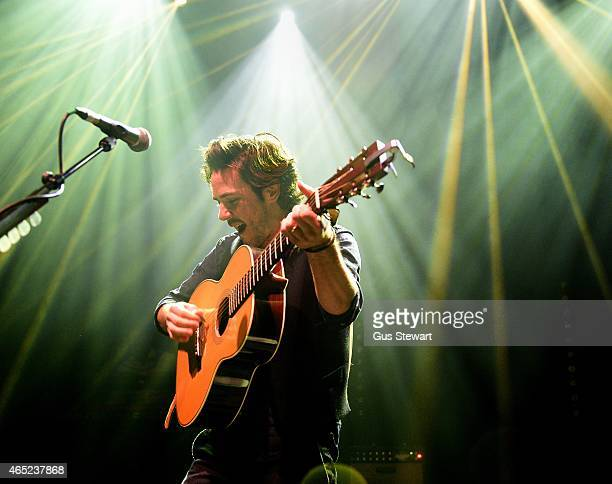 Jack Savoretti performs on stage at O2 Shepherd's Bush Empire on March 4 2015 in London England