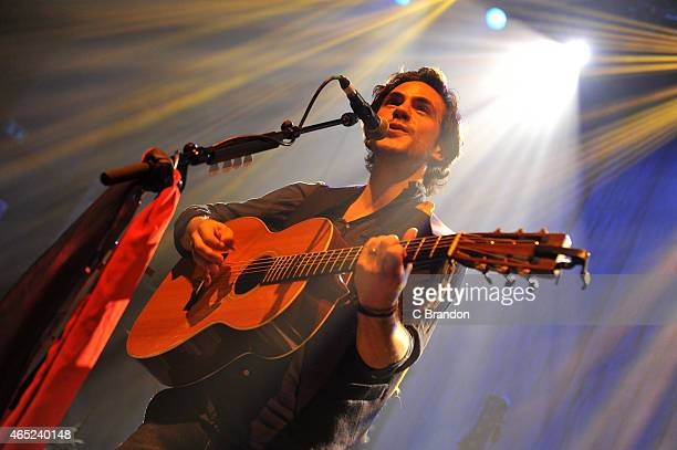 Jack Savoretti performs on stage at O2 Shepherd's Bush Empire on March 4 2015 in London United Kingdom