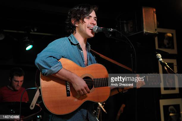 Jack Savoretti performs on stage at Pizza Express Jazz Club on March 5 2012 in London United Kingdom