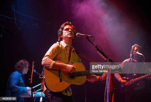 Jack Savoretti performs on stage at Queen Margaret's Union on February 18 2015 in Glasgow United Kingdom