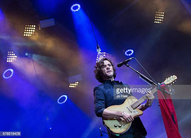 Jack Savoretti performs on stage at Somerset House on July 15 2016 in London England