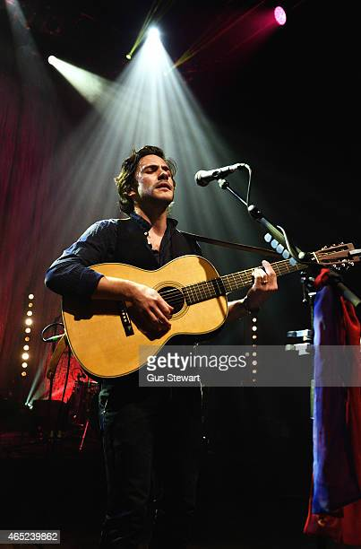 Jack Savoretti performs on stage at the O2 Shepherds Bush Empire Jack Savoretti performs at O2 Shepherd's Bush Empire on March 4 2015 in London...