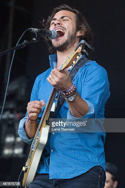 Jack Savoretti performs on the Main Stage at Blackheath Common on September 12 2015 in London England