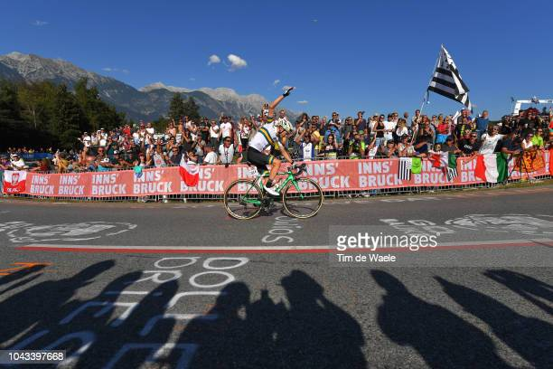Jack Schultz of Australia / Fans / Public / Landscape / Mountains / during the Men Elite Road Race a 2585km race from Kufstein to Innsbruck 582m at...