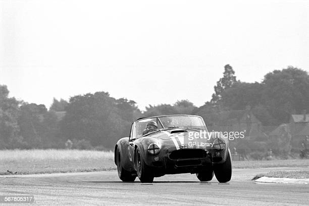 Jack Sears in a Shelby Cobra at St Mary's Corner in the RAC TT race Goodwood England 29th August 1964