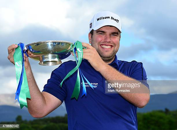 Jack Senior of England winner of the 2015 SSE Scottish Hydro Challenge at the MacDonald Spey Valley Championship Golf Course on June 28 2015 in...