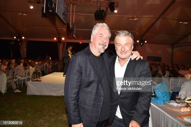 Jack Shear and Alec Baldwin attend the Guild Hall Summer Gala 2018 at Guild Hall on August 10 2018 in East Hampton New York