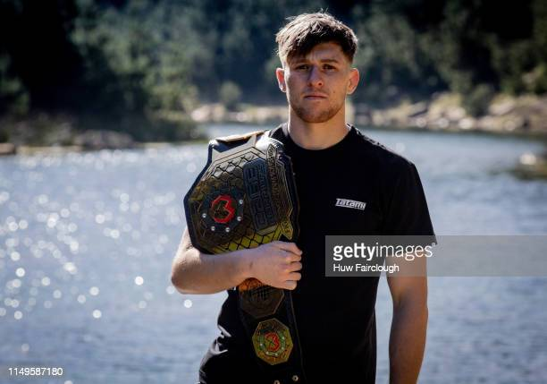 Jack Shore Cage Warriors Bantamweight Champion poses with his belt on May 14 2019 In Abertillery Wales