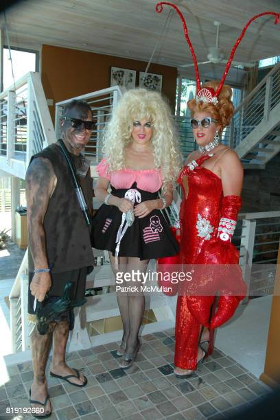 Jack Slick Ginger Snap and Coco Love attend INDEPENDENCE DAY THE INVASION OF THE PINES at Cherry Grove and Fire Island Pines on July 4 2010 in...