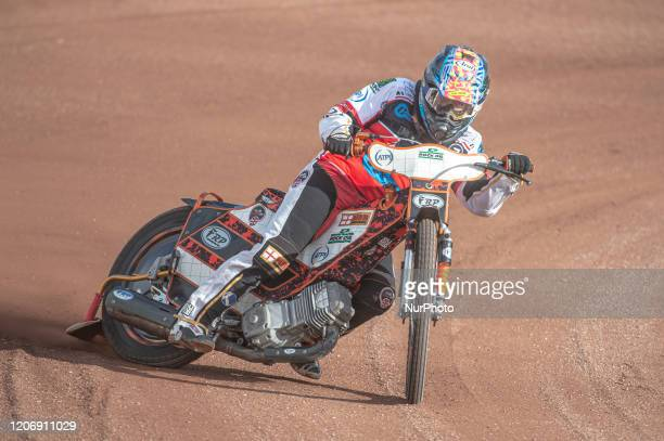 Jack Smith of Belle Vue Colts in action during The Belle Vue Speedway Media Day, at The National Speedway Stadium, Manchester, on Thursday 12 March...