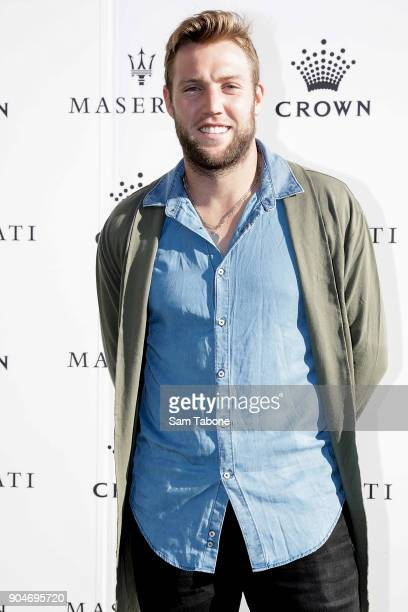 Jack Sock arrives ahead of the 2018 Crown IMG Tennis Player at Crown Palladium on January 14 2018 in Melbourne Australia