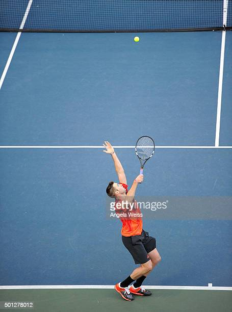 Jack Sock attends the Maria Sharapova and Friends tennis event presented by Porsche on December 13 2015 in Los Angeles California
