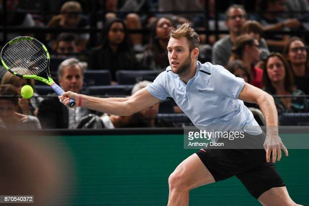 Jack Sock during the Final of the Rolex Paris Masters at AccorHotels Arena on November 5 2017 in Paris France