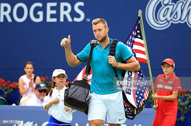 Jack Sock of the USA arrives on Centre Court for his match against Stan Wawrinka of Switzerland during Day 4 of the Rogers Cup at the Aviva Centre on...