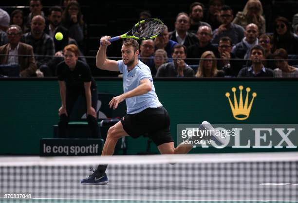 Jack Sock of USA during his final against Filip Krajinovic of Serbia on day 7 of the Rolex Paris Masters 2017 a Masters 1000 ATP World Tour event...