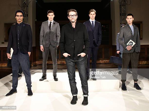 Jack Spade designer Todd Magill attends the Jack Spade Presentation during MercedesBenz Fashion Week Fall 2014 at New York Public Library on February...