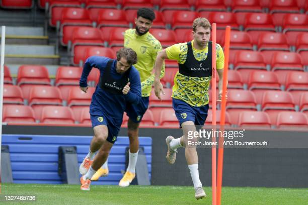Jack Stacey of Bournemouth during a pre-season training session at Vitality Stadium on July 07, 2021 in Bournemouth, England.