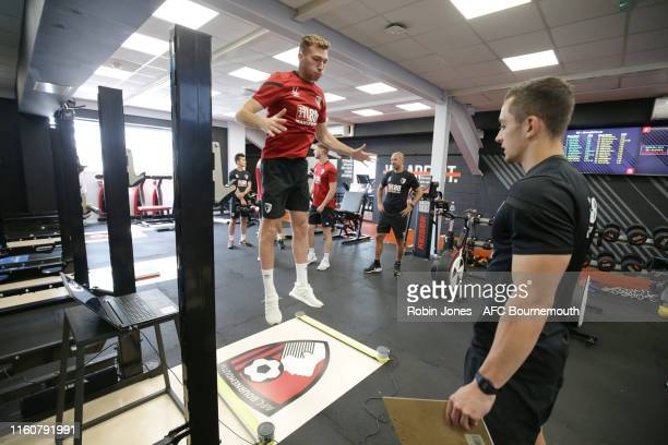Jack Stacey of Bournemouth during pre-season gym tests at Vitality Stadium on July 08, 2019 in Bournemouth, England.