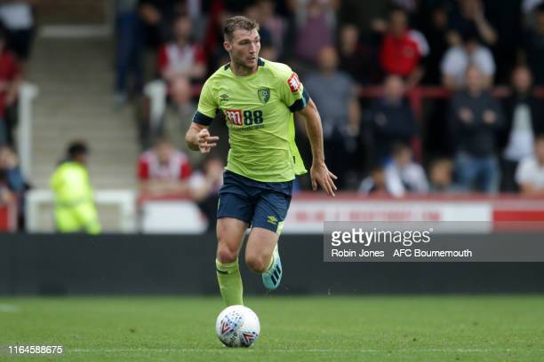 Jack Stacey of Bournemouth during the Pre-Season Friendly match between Brentford and AFC Bournemouth at Griffin Park on July 27, 2019 in Brentford,...