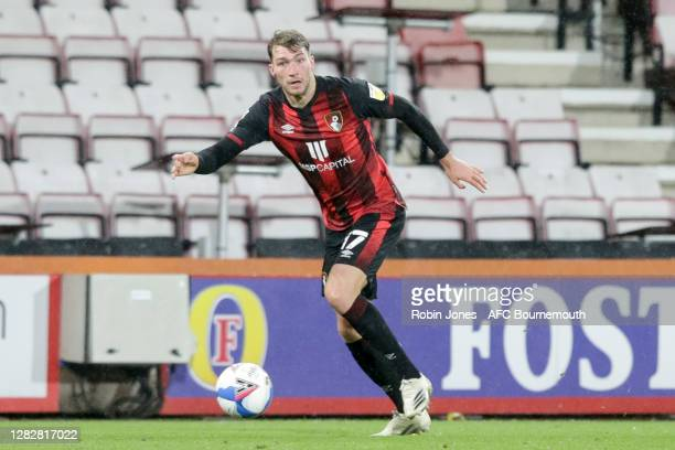 Jack Stacey of Bournemouth during the Sky Bet Championship match between AFC Bournemouth and Bristol City at Vitality Stadium on October 28 2020 in...