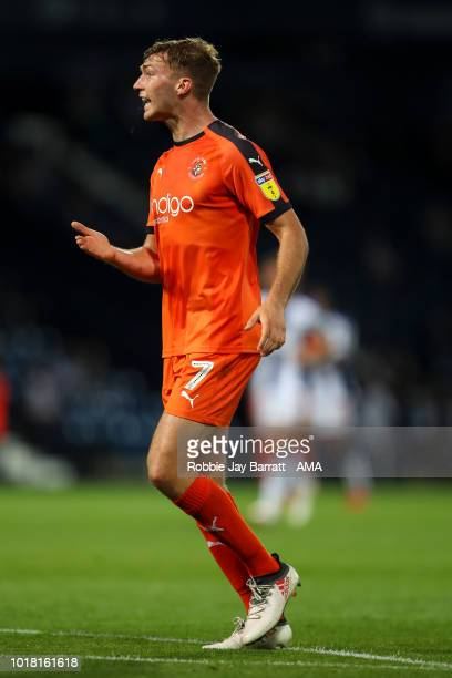Jack Stacey of Luton Town during the Carabao Cup First Round match between West Bromwich Albion and Luton Town at The Hawthorns on August 14 2018 in...