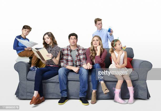 Jack Stanton as Marc, Ashley Boettcher as Nicole, Jason Biggs as Mike, Maggie Lawson as Kay, Connor Kalopsis as Brian and Oakley Bull as Leila in...