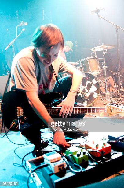 Jack Steadman of Bombay Bicycle Club performs at the O2 Academy on February 4 2010 in Newcastle upon Tyne England