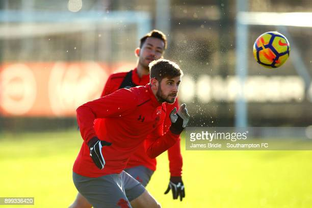 Jack Stephens during a Southampton FC training session at Staplewood Complex on December 28 2017 in Southampton England