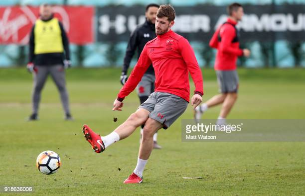 Jack Stephens during a Southampton FC training session at the Staplewood Campus on February 15 2018 in Southampton England