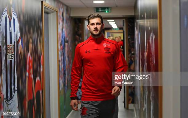 Jack Stephens of Southampton ahead of the Emirates FA Cup fifth round match between West Bromwich Albion and Southampton at The Hawthorns on February...
