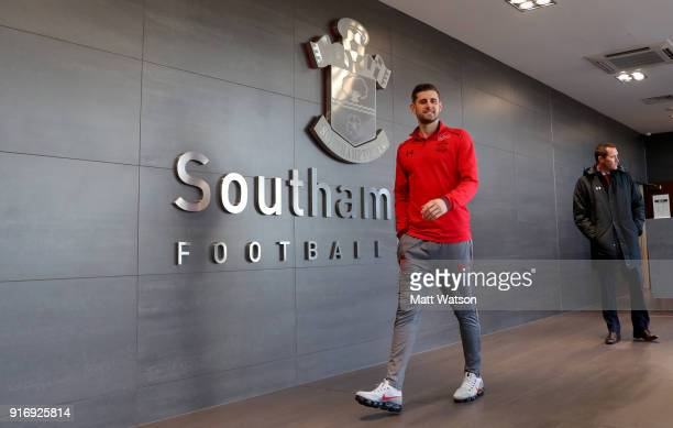 Jack Stephens of Southampton ahead of the Premier League match between Southampton and Liverpool at St Mary's Stadium on February 11 2018 in...