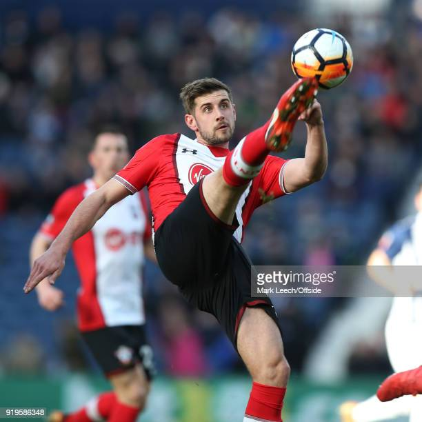 Jack Stephens of Southampton during the FA Cup Fifth Round match between West Bromwich Albion and Southampton at The Hawthorns on February 17 2018 in...