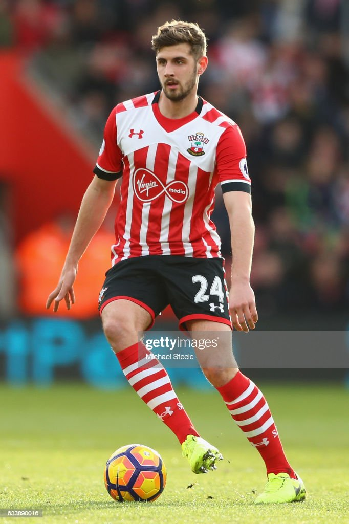 Jack Stephens of Southampton during the Premier League match between Southampton and West Ham United at St Mary's Stadium on February 4, 2017 in Southampton, England.