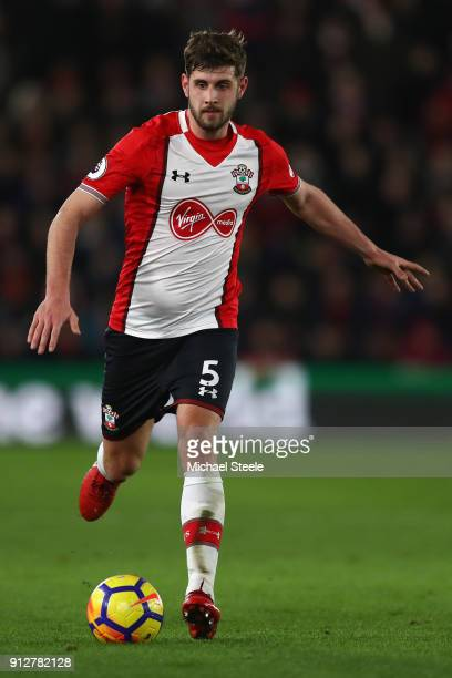 Jack Stephens of Southampton during the Premier League match between Southampton and Brighton and Hove Albion at St Mary's Stadium on January 31 2018...