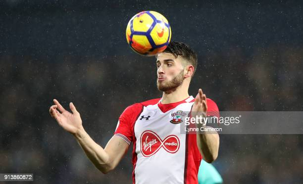 Jack Stephens of Southampton during the Premier League match between West Bromwich Albion and Southampton at The Hawthorns on February 3 2018 in West...