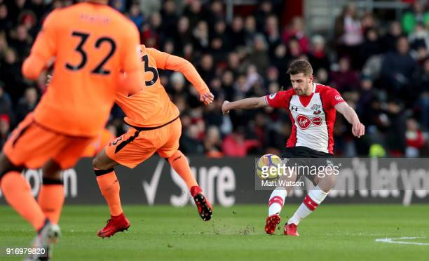 Jack Stephens of Southampton during the Premier League match between Southampton and Liverpool at St Mary's Stadium on February 11 2018 in...