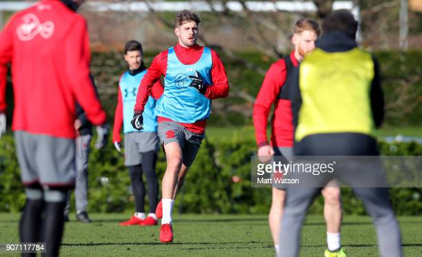 Jack Stephens of Southampton FC during a training session at the Staplewood Campus on January 19 2018 in Southampton England