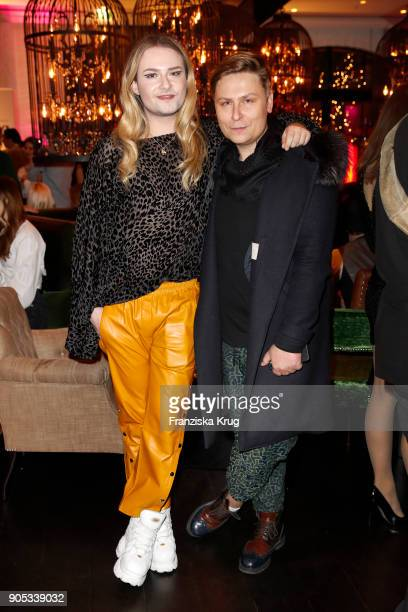 Jack Strify and Dawid Tomaszewski during the Bunte New Faces Night at Grace Hotel Zoo on January 15 2018 in Berlin Germany
