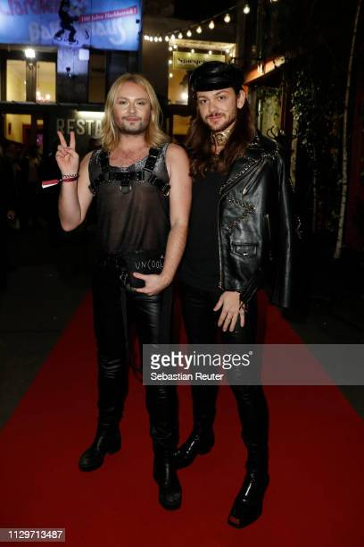 Jack Strify and Riccardo Simonetti during the Sleek X IQOS Valentines Party at Claerchens Ballhaus on February 14 2019 in Berlin Germany