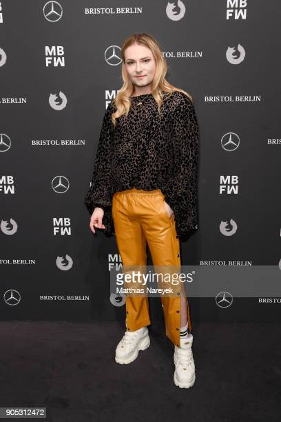 Jack Strify attends the Dawid Tomaszewski show during the MBFW Berlin January 2018 at ewerk on January 15 2018 in Berlin Germany