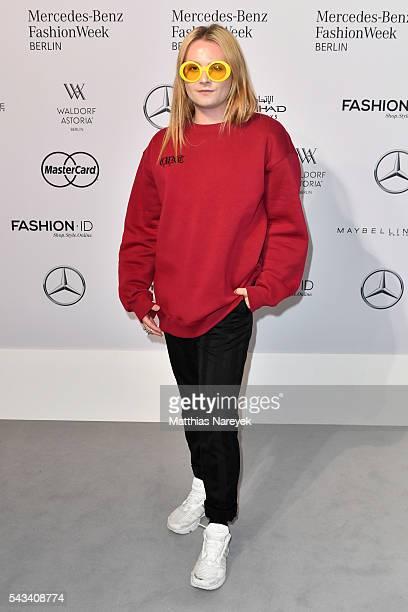 Jack Strify attends the Thomas Hanisch show during the MercedesBenz Fashion Week Berlin Spring/Summer 2017 at Erika Hess Eisstadion on June 28 2016...