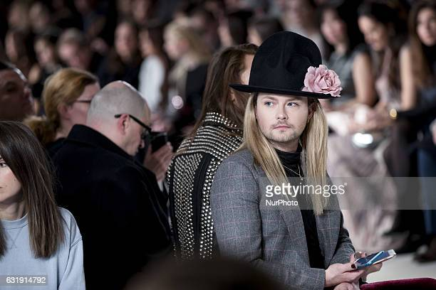 Jack Strify is seen at the Holy Ghost fashion show during the MercedesBenz Berlin Fashion Week Autumn/Winter 2017 in Berlin Germany on January 17 2017