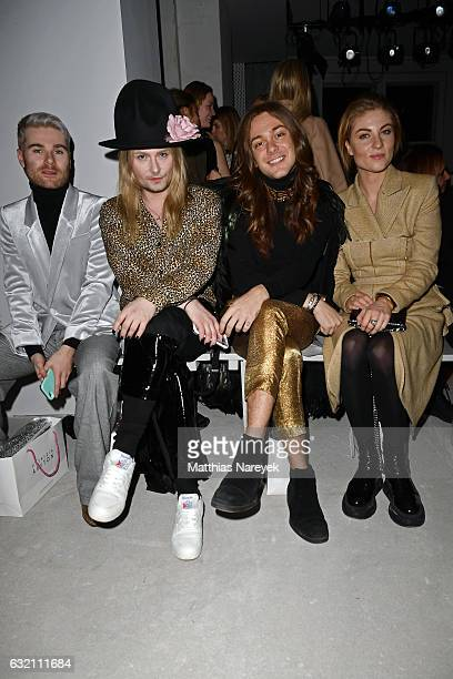 Jack Strify Riccardo Simonetti and Lisa Banholzer attend the Dawid Tomaszewski X Patrizia Aryton show during the MercedesBenz Fashion Week Berlin A/W...